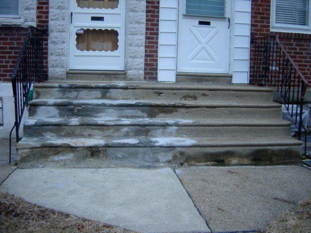 damaged concrete steps