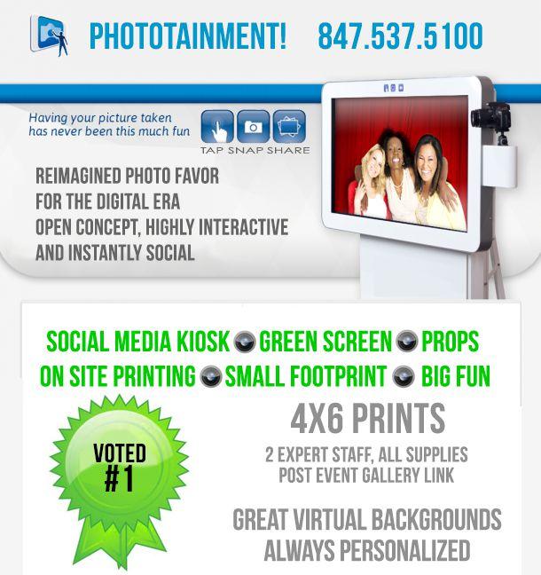 phototainment social media kiosk