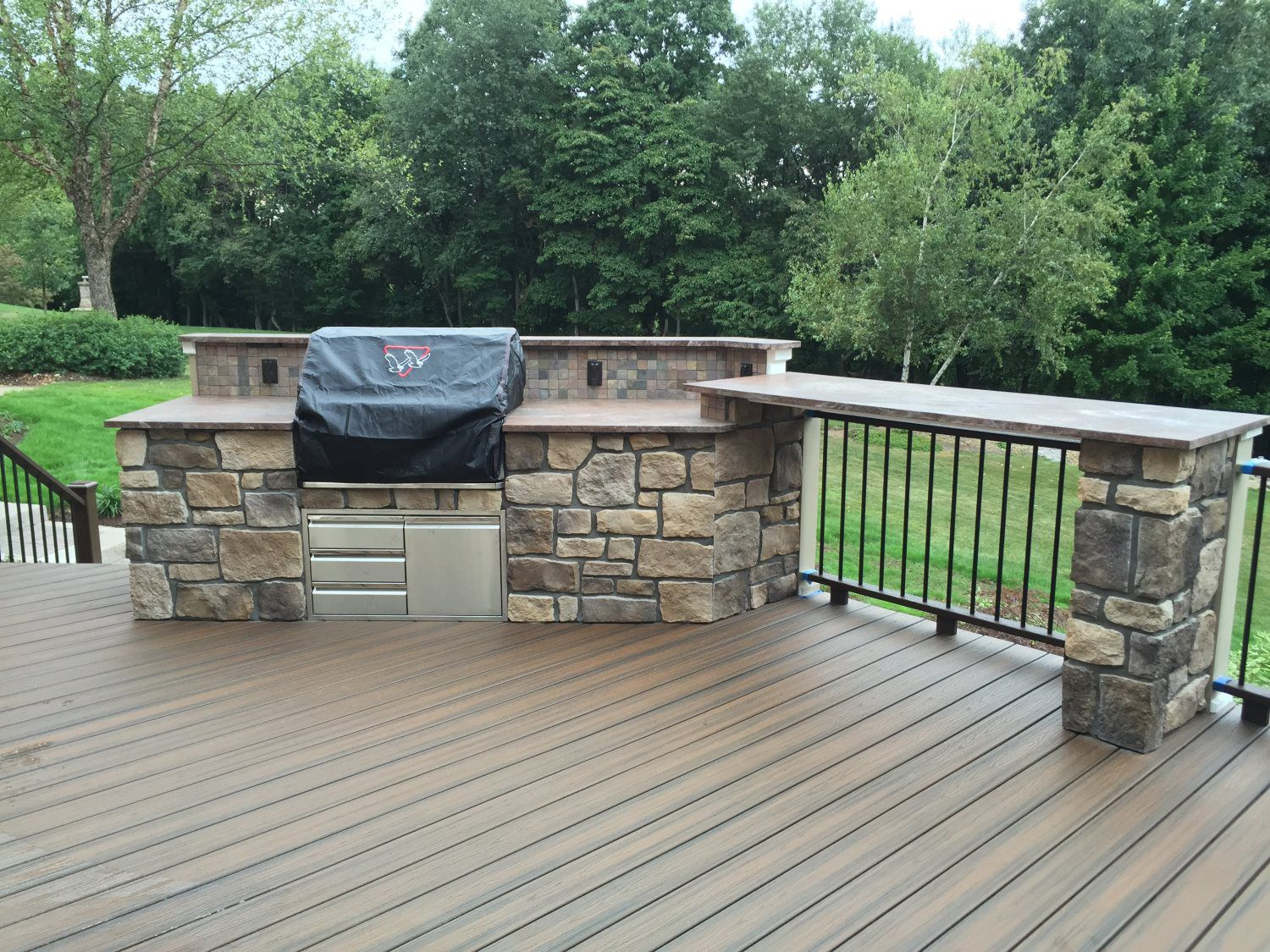 Outdoor Grilling Area - World Class Custom Deck and Patio ... on Patio Grilling Area id=34291
