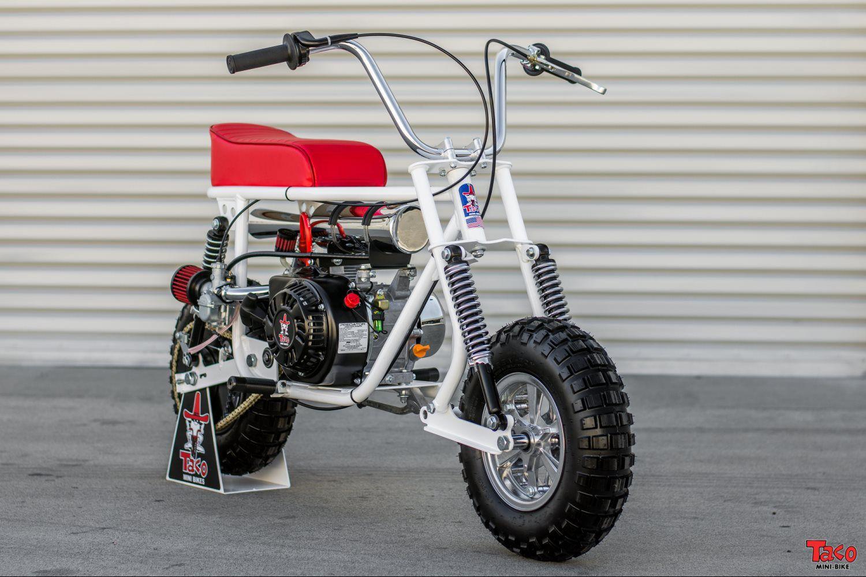 taco mini bike 100b white