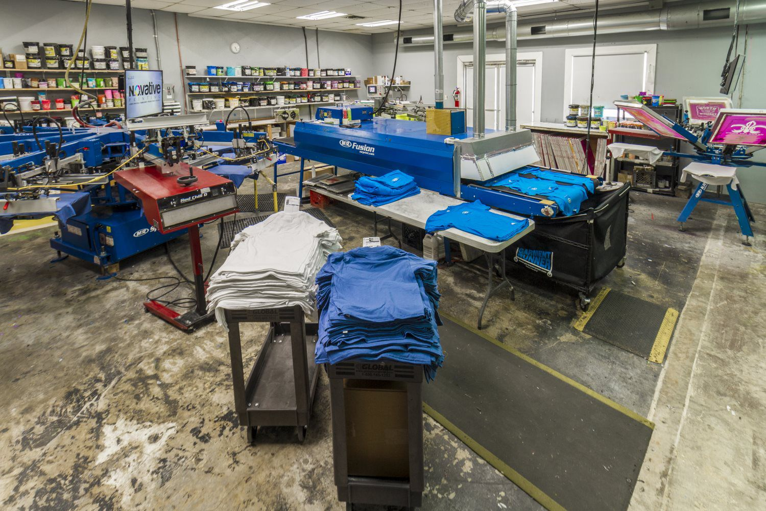 Quality screen printing notive printing novative printing production area geenschuldenfo Gallery