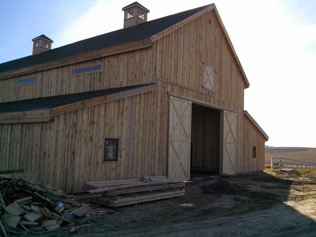 construction photo gallery barns barn pole buildings timberline