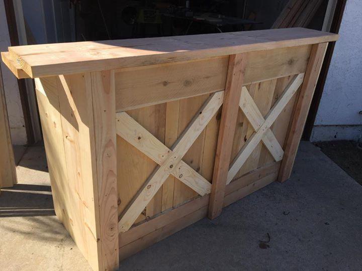 Rack-N-Roll Woodwerx custom bar stand woodwork in San DIego