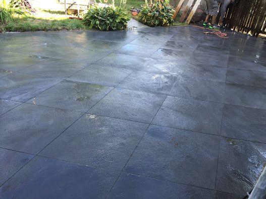 Looks Can Be Deceiving, The Work Appears Like A Completely Replaced  Concrete Patio But For Less Then Half The Cost.