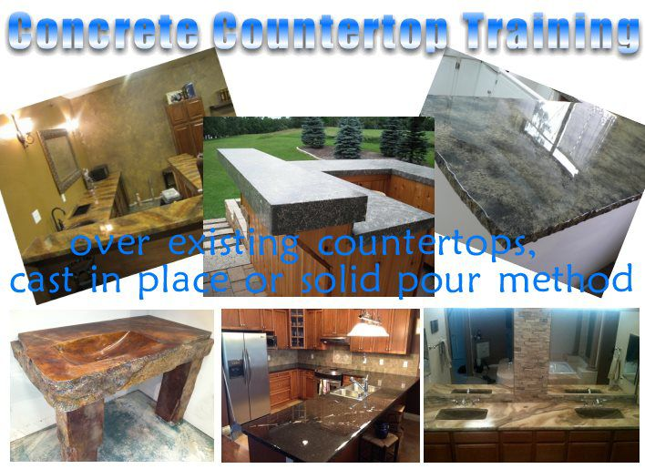 concrete countertops - concrete countertop training through dvds