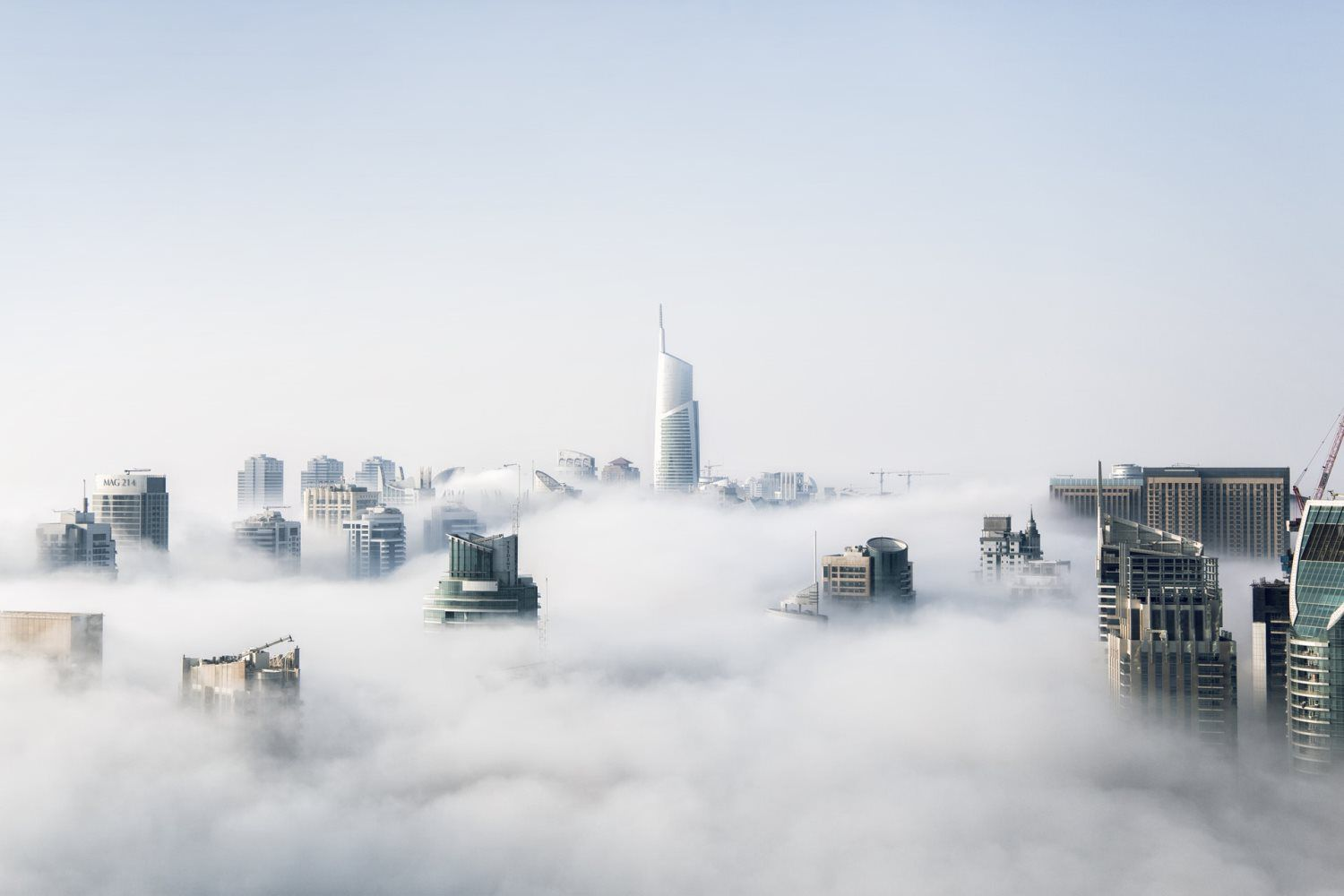 buildings and clouds