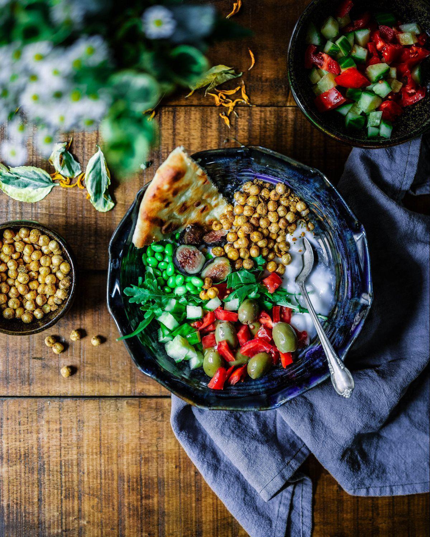 beans, veggies