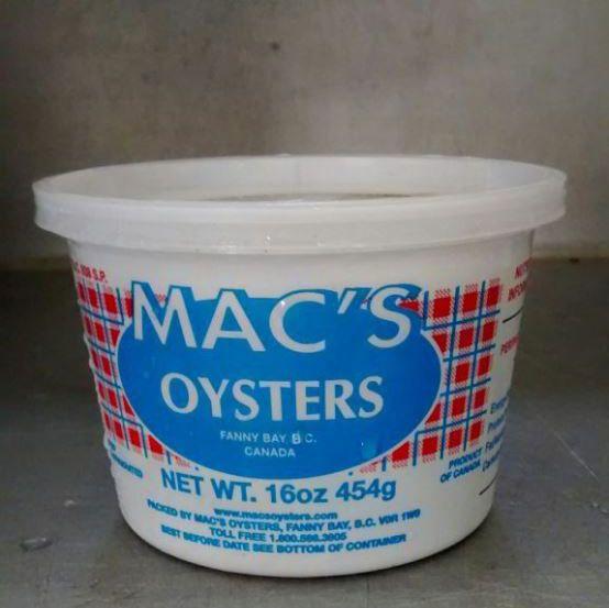 Shucked Oyster Meats - MAC'S OYSTERS LTD