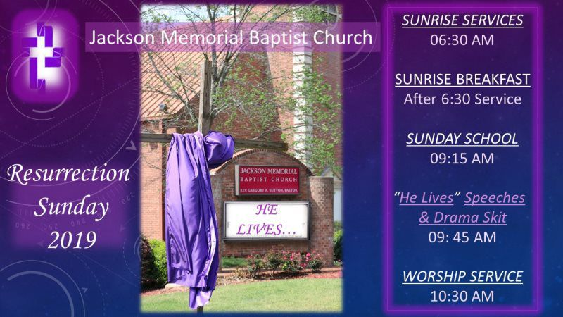 2019 Photos And Events - Jackson Memorial Baptist Church