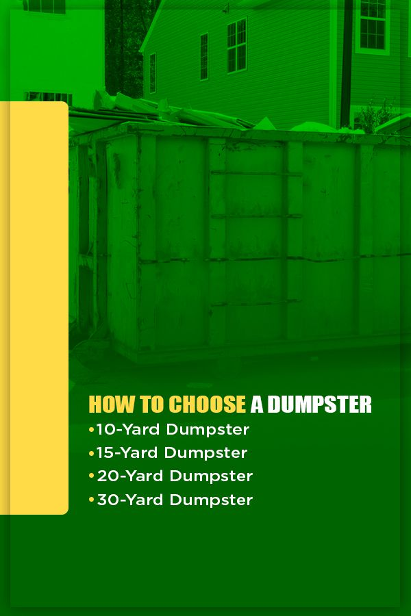 How to Choose a Dumpster Size