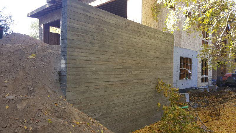 Board Form Solid Concrete Walls