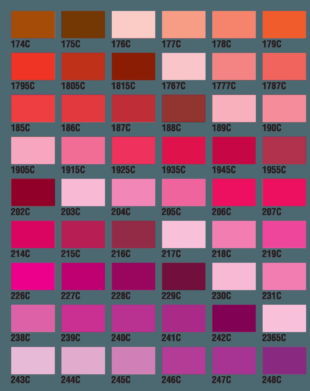pms color chart pdf