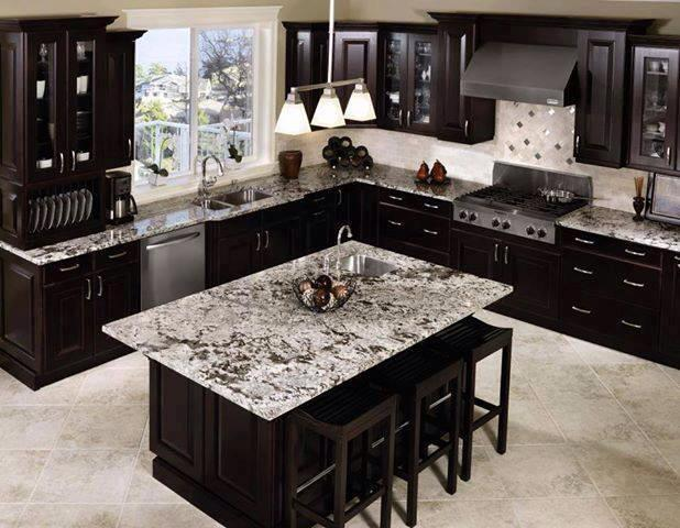 Dark Cabinets With Light Flooring And Countertops Are An Amazing Combination Awesome Appliance Repair