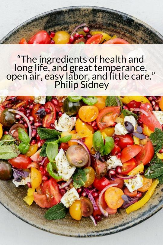 The ingredients of Health and long life - Chef Nourish I