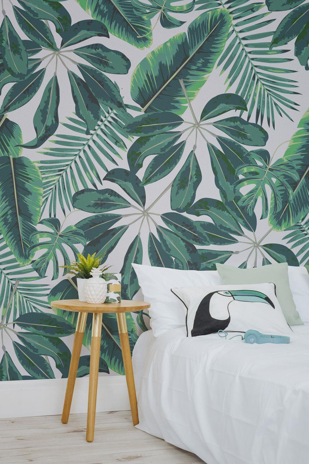 Up your bedroom's style factor by wallpapering one wall.
