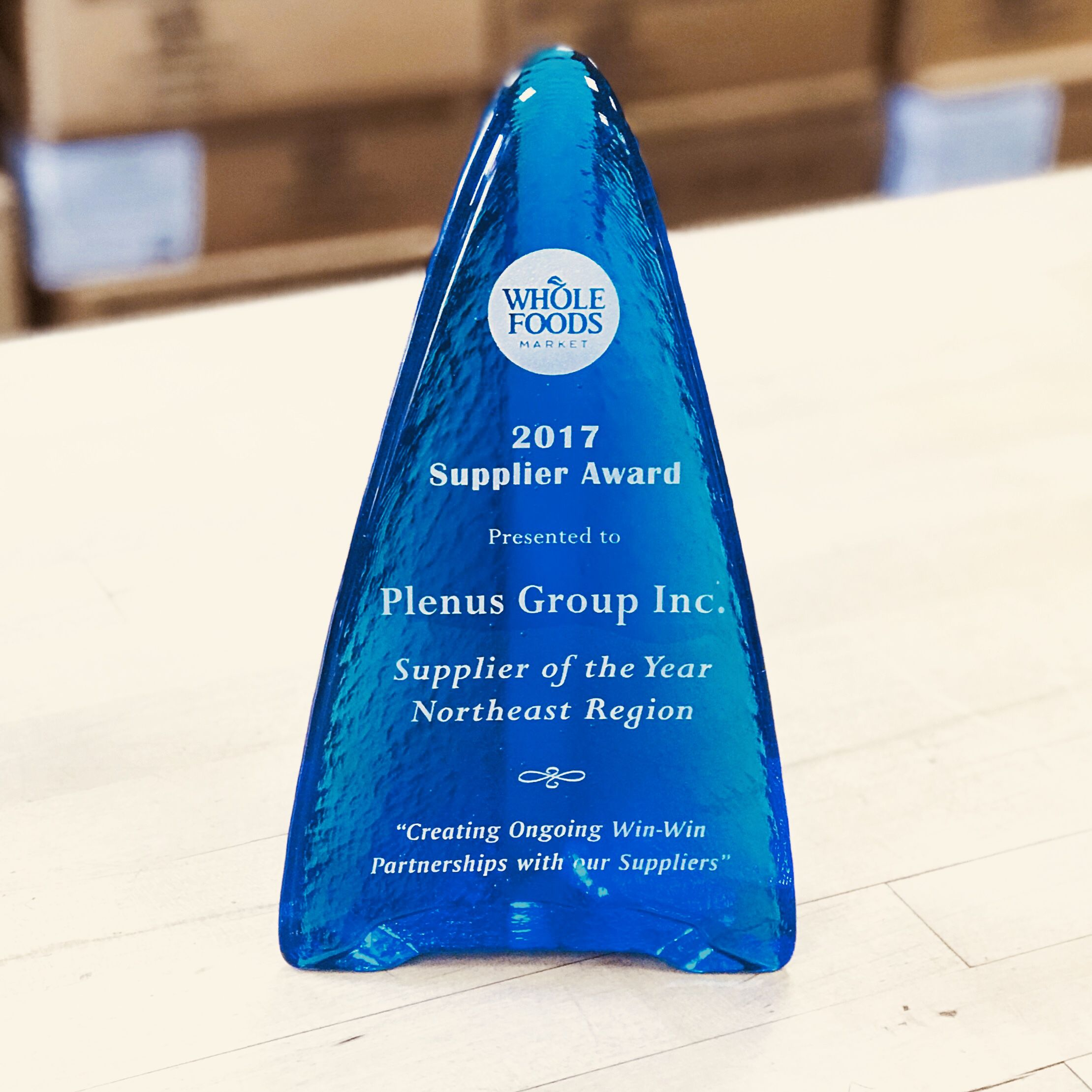 Plenus Group a Supplier of the Year for Whole Foods - Plenus