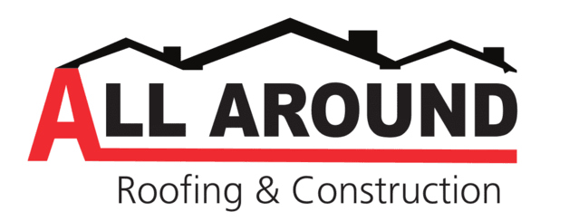 all around roofing and construction logo