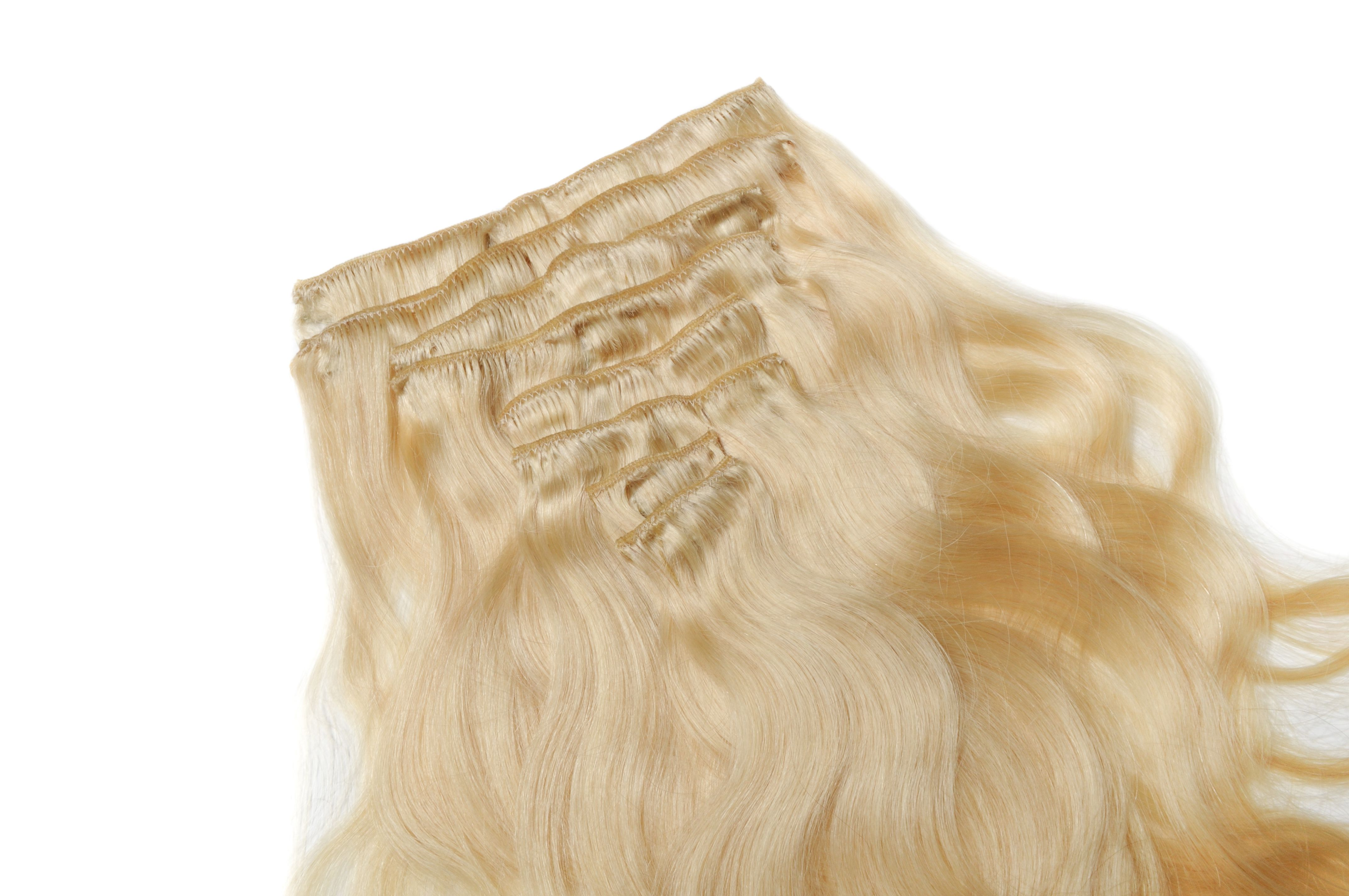 Clip In Natural Hair Extensions The Premium Weft