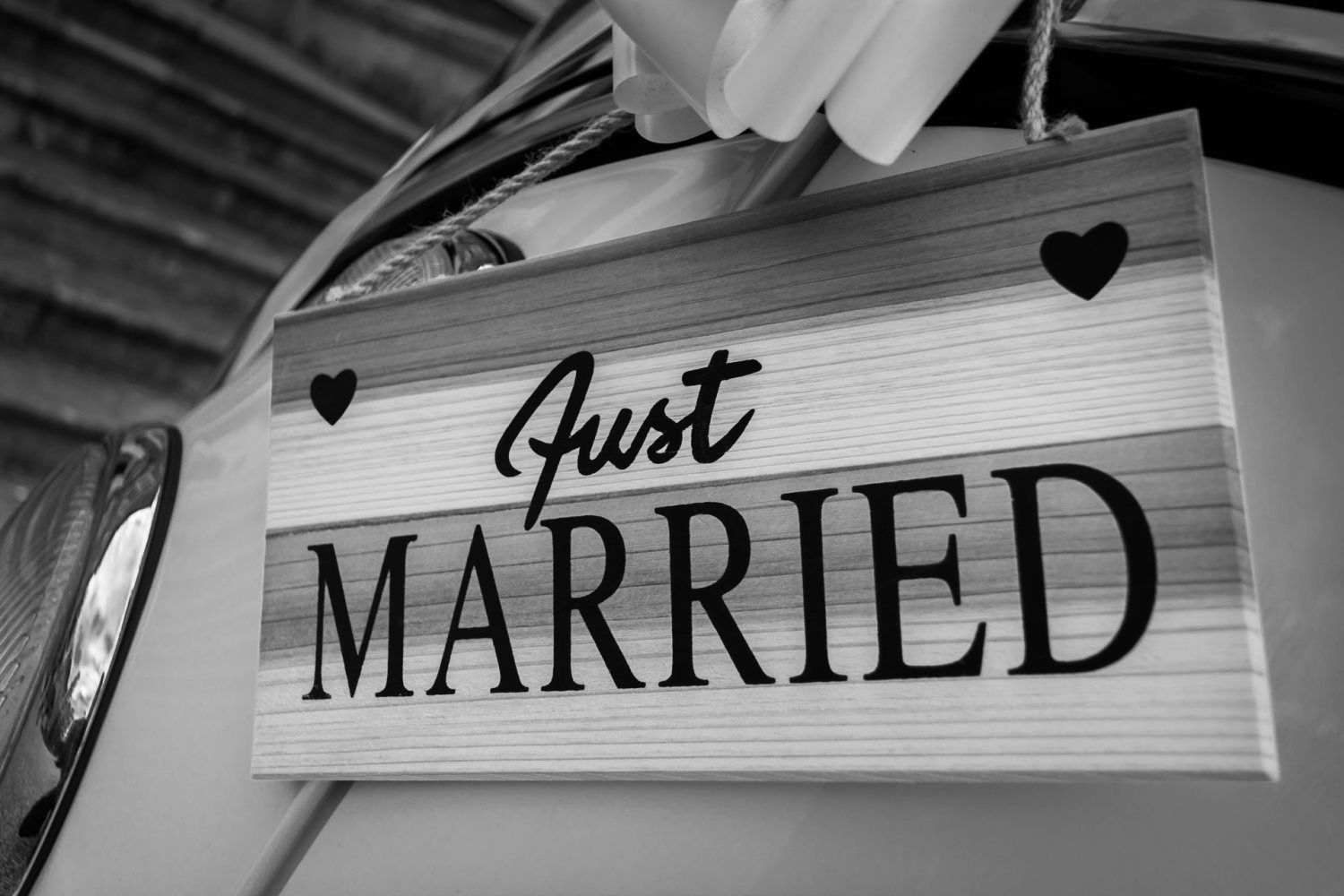 just married slogan