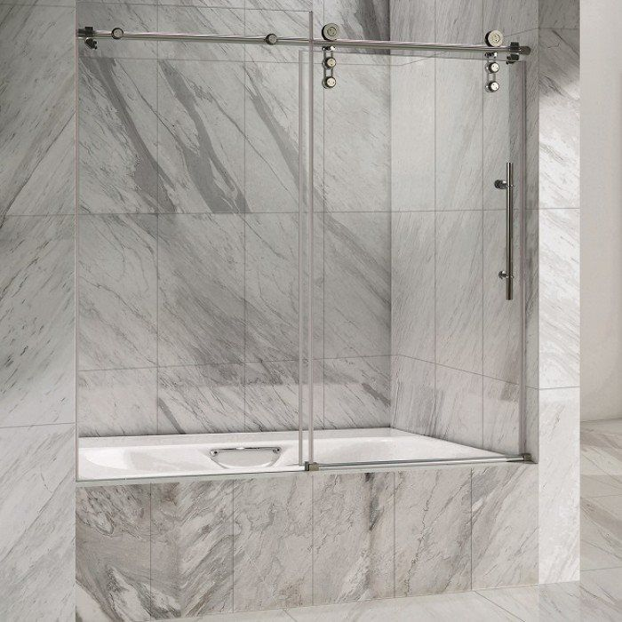 installation care how with traditional trad doors a tub shower glass style door to and sliding bathtub install