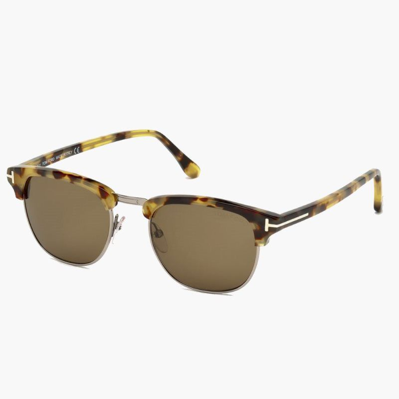 3f5185e6f3b Tom Ford Henry.  410.00. DESCRIPTION VINTAGE WAYFARER ROUND ACETATE  SUNGLASSES ...