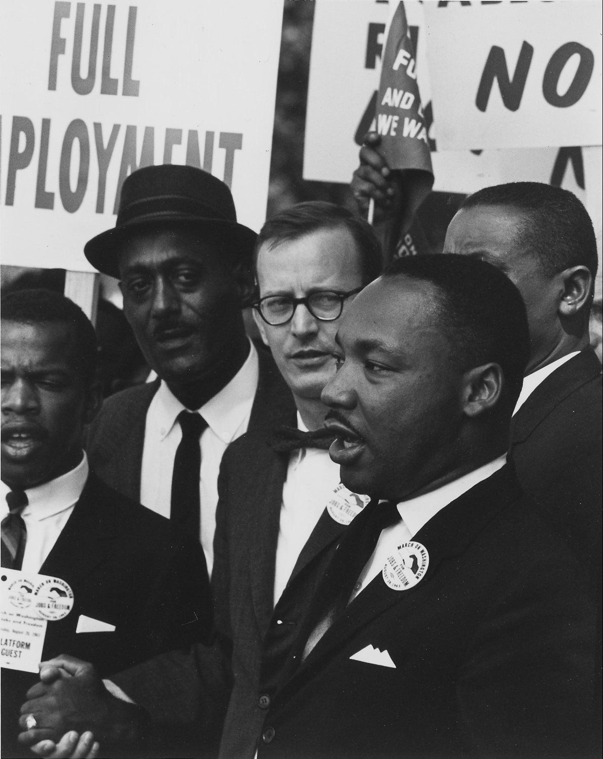 Martin Luther King Jr. at a civil rights march on Washington