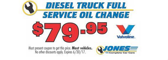 79 95 Diesel Truck Fill Service Oil Change Jones Complete Car Care