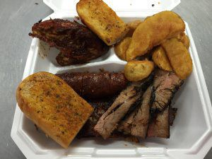 1/4 BBQ Chicken, Ribs, Tri Tip Steak, Hot Links
