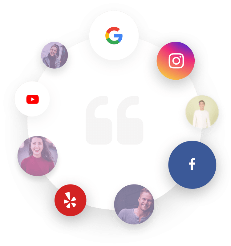 social meida graphic with top social app icons
