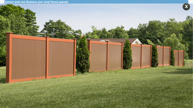 Brown Vinyl Privacy Fence On Slope Previous Next Intended Decorating