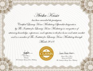 As Marketing Experts, Anne U0026 Avisha Have Been Awarded The Prestigious Certified  Luxury Home Marketing Specialist Designation By The Institute Of Luxury Home  ...