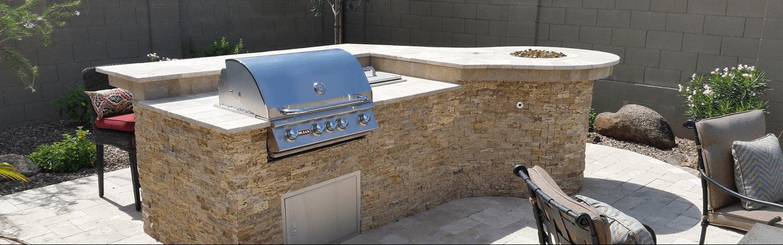 outdoor kitchen construction in Maricopa