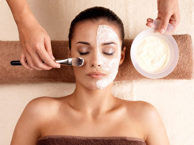 woman having a skin treatment