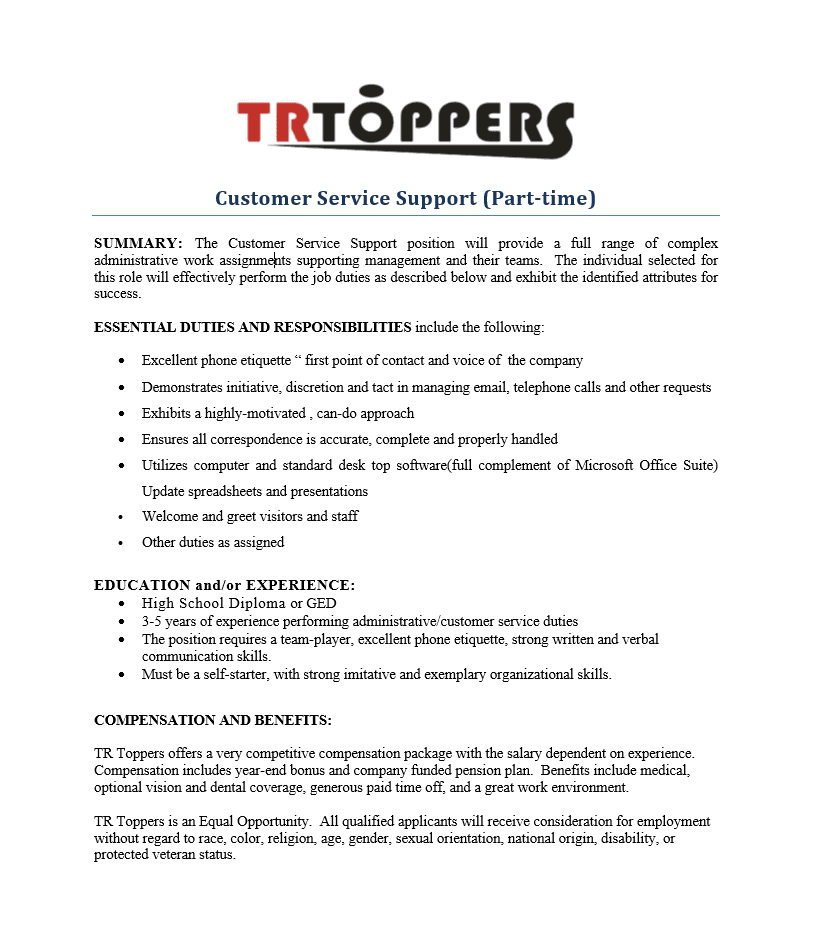 Customer Service at TR Toppers, Premium Dessert Mix-ins - TR Toppers